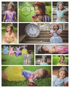 Disney Princess Photo Shoot. This is so so cute (would be fun for Brin and Alana)