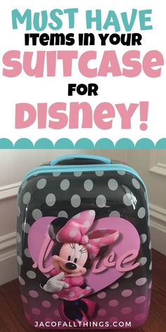 If you are headed to Disney, you need to remember to pack these items in your suitcase! This complete list of must-have items for your next Disney vacation includes everything you need to be prepared for the perfect trip! Packing List For Disney, Disney World Packing, Vacation Packing, Disney World Vacation, Packing Tips For Travel, Disney Vacations, Disney Travel, Vacation Ideas, Travel Ideas