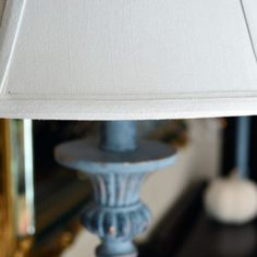 Did you know that you can paint a lamp shade? I will show you how to completely change the look of your favorite lamp and lampshade using chalk paint. Make A Lampshade, Lampshades, Painted Lampshade, Painting Lamp Shades, Painting Lamps, Fabric Painting, Lamp Makeover, Furniture Makeover, Tv Diy