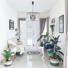 Tips Feng Shui Ruang Tamu yang Baik Simple Living Room, Small Living Rooms, New Living Room, Modern Living, Small Room Design, Home Room Design, White House Interior, Interior Modern, Mekka