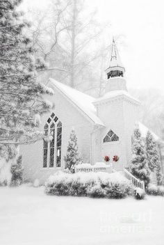 Winter *❄️~*.Wishes & Dreams.*~❄️* Peaceful Snow Chapel . . .