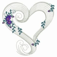 Rippled Floral Hearts 3 - 3 Sizes! | Floral - Flowers | Machine Embroidery Designs | SWAKembroidery.com Ace Points Embroidery