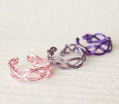Lavender Adjustable Braided Ring Pink Purple by HopeFilledJewelry