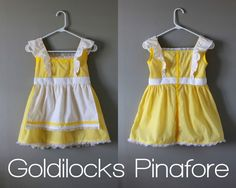 diy goldilocks pinafore tutorial pattern