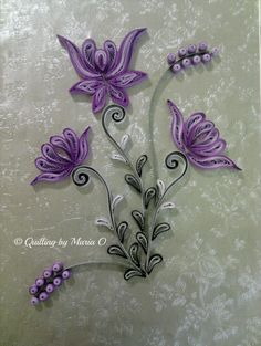 Purple frame quilled by Maria Oroian