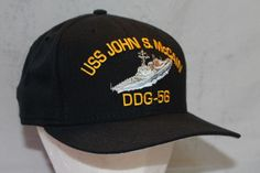 Vintage Snap Back Hat, USS John McCain, Made in the USA by ilovevintagestuff on Etsy