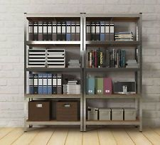 Metal Racking Storage Unit Heavy Duty Garage Warehouse Shelving Office Organizer