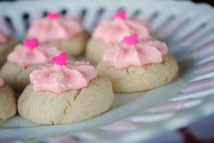 Thumbprint Cookies with Cherry Buttercream Frosting