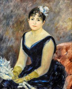 Pierre Auguste Renoir - Madame Leon Clapisson, 1883 at Art Institute of Chicago IL