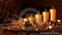Gold Christmas decoration by Ingrid Heczko, via Dreamstime