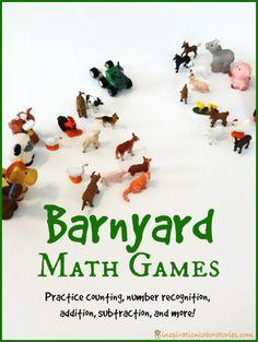 Barnyard Math Games inspired by Cock-a-Doodle-Doo! Barnyard Hullabaloo by Giles Andreae