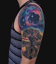 Oak Tree Tattoo Sleeve