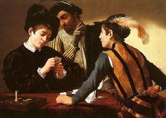 Charles Fonseca: Os trapaceiros. Caravaggio. Pintura