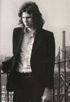 Isn't it strange how Nick always seems to be a man out of time?  His hair, his clothing - he could be from any time in the last 50 years, give or take.  Nearly every picture of him is as difficult to pin into place as his music.  It's as if he was only passing through.  I'm so happy that he did.