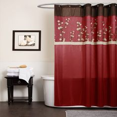 Red And Black Bathroom Chroom Sets