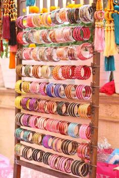 Looking for Bangles on Stand as Favour for Mehendi? Browse of latest bridal photos, lehenga & jewelry designs, decor ideas, etc. on WedMeGood Gallery. Punjabi Wedding Decor, Desi Wedding Decor, Indian Wedding Favors, Wedding Hall Decorations, Marriage Decoration, Backdrop Decorations, Wedding Ideas, Indian Weddings, Romantic Weddings