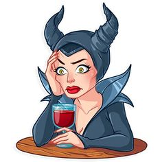 """""""Maleficent"""" stickers set for Telegram Kawaii Drawings, Disney Drawings, Disney Love, Disney Art, Pocket Princesses, Telegram Stickers, Christmas Drawing, Cute Anime Character, Aesthetic Stickers"""