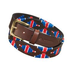The GB design combines the dual heritage of each pampeano polo belt. This is our unique take on the Union Jack, adapted to take the form of the pampa diamond. As a whole, the design represents the journey of each belt from the atelier in the pampas, to locations around the world. The GB belt was created to celebrate Team GB's journey to Rio this Summer for the Olympic games.