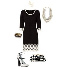 Studies in black #8- plus size, created by gchamama on Polyvore.  I'd rock this to work or church! Oh yes ma'am!