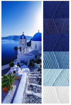 Stylecraft Special DK - Midnight, Lobella, Royal, Aster, Clould Blue and White #pippinpoppycock Yarn Mood Boards #Inspiration