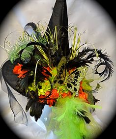 Midnight Madness Witch Hat OOAK by Marcellefinery on Etsy, $78.00