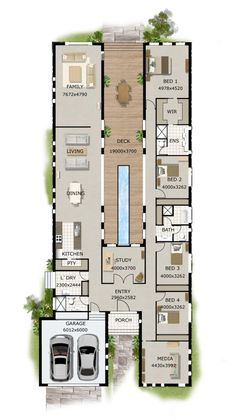 Simple Four Bedroom House Plans Contemporary House Designs And Floor Plans Contemporary Home Designs Modern Narrow Block House Designs Floor Plan Four Bedrooms Simple Design Contemporary House Design Layouts Casa, House Layouts, Home Design Plans, Plan Design, Design Ideas, Modern Home Plans, Unique Floor Plans, Layout Design, Design Design