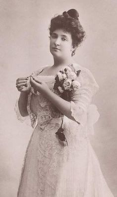 Dame Nellie Melba, the Austrailian opera singer who was so admired in England in the early 1900's.