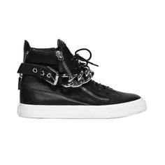 Giuseppe Zanotti Black Chain High Top Sneakers - US 13 / 46 - NEW with box #GuiseppeZanotti #AthleticSneakers