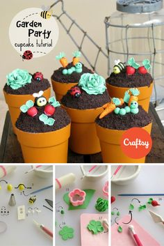 How to Make the Cutest Garden Party Cupcakes Ever