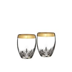 Lismore Essence Gold Double Old Fashioned, Pair of Tumblers