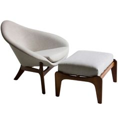 Adrian Pearsall Lounge Chair and Ottoman for Craft Associates ca. Late 60's