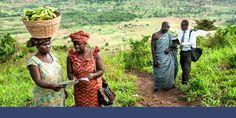 Testigos de Jehová predicando las buenas nuevas en Ghana