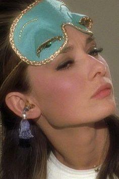 breakfast at tiffany's sleeping beauty set- sleep mask & tassel ear plugs! so cute!  #AudreyHepburn Audrey Hepburn #eyemask #sleep #pajamas #shopping #costume #halloween #glamorous #accessories #classic #noise