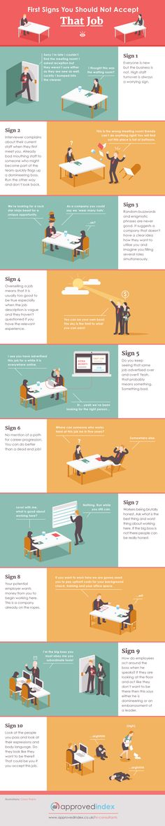 Infographic: 10 Signs That Warn Against Taking Up A Job Offer - DesignTAXI.com