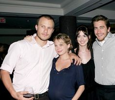 2005-09-10: Heath Ledger, Michelle Williams, Anne Hathaway and Jake Gyllenhaal at the 2005 Toronto Film Festival.