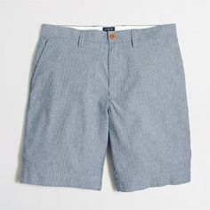 """9"""" dotted chambray Gramercy short"""