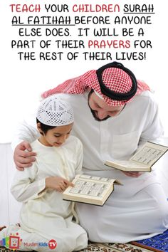 Teach your children surah al Fatihah before anyone else does. It will be a part of their prayers for rest of their lives!