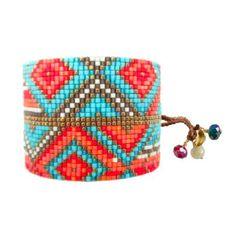 Bracelet en perles et fils de la célèbre marque Colombienne Mishky.Création Mishky - Le Bazaristain
