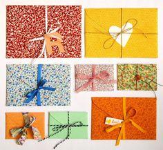 Amar ♥ Casar: Envelopes em Tecido ♥
