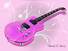 Pink Guitar by michelledh on DeviantArt Facebook Cover Love, Pink Guitar, Children Images, Music Is Life, Pretty In Pink, Deviantart, Breast Cancer, Guitars, Purple