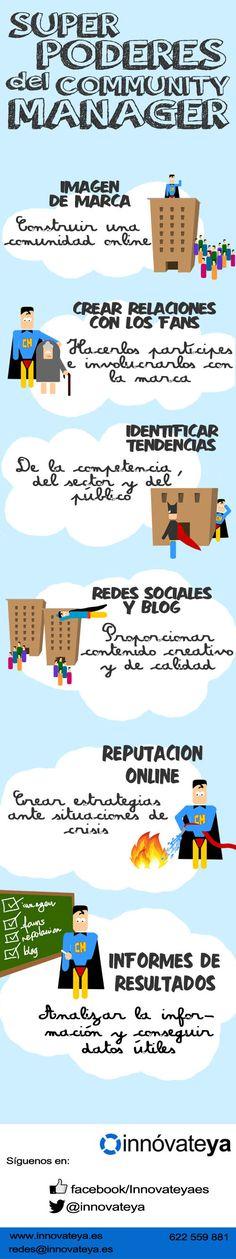6 Superpoderes del Community Manager.- #infografia #sm http://joseantonioantolin.com/6-superpoderes-del-community-manager-infografia/