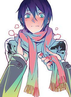 Yato in Hiyori scarf by Sundog1991.deviantart.com on @DeviantArt
