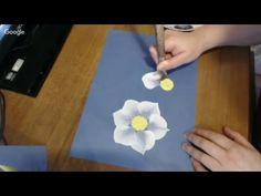 Stream, Paint the flowers daffodils, Рисуем нарциссы двойным мазком, iri...