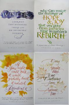 Lisa Holtman: calligraphy seasons sign