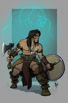 Oronir, the druid barbarian by Mirthol