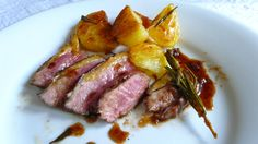 Duck Breast in a rosemary, balsamic and citrus-marinade