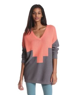 a121ebb0f09ba BCBGeneration Women s Intarsia Pullover Sweater