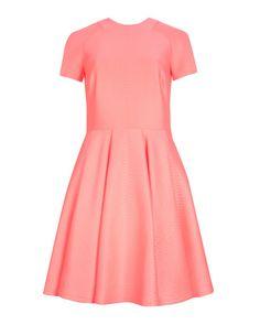 Embossed neoprene dress - Coral | Dresses | Ted Baker