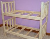 View Solid Wood Bunk Beds by LilMavenDollBoutique on Etsy