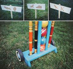 lawn games! we are definitely doing this.  super cute couple and wedding... check back here for the catering company...